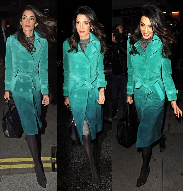 Amal Clooney Burberry Dress1