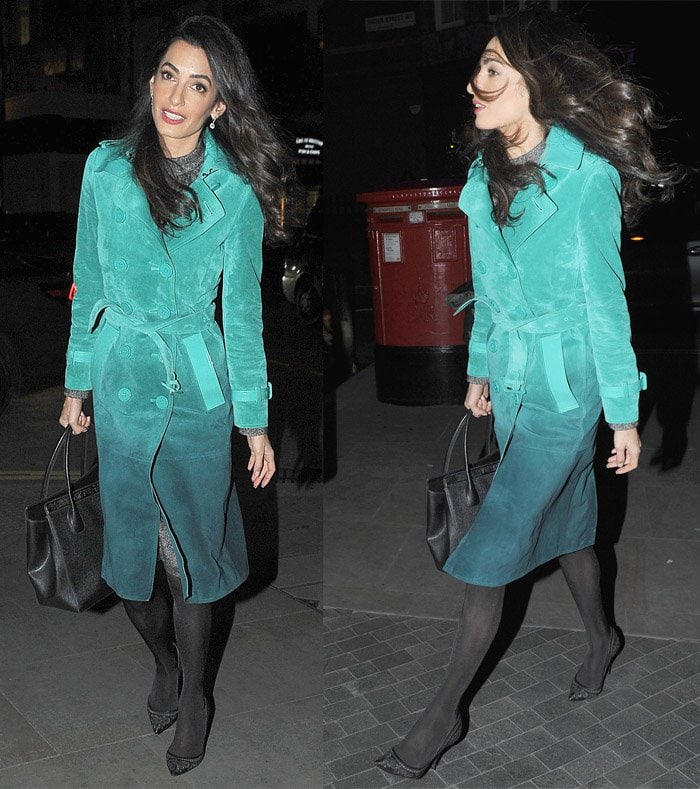 Amal Clooney Burberry Dress2