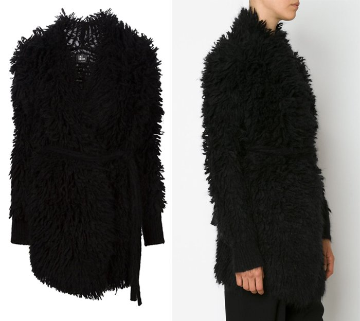 Lost and Found Belted Textured Cardi Coat