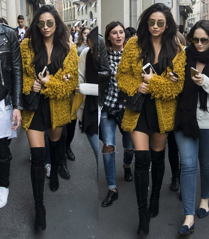 Shay Mitchell For Love and Lemons Cardigan1