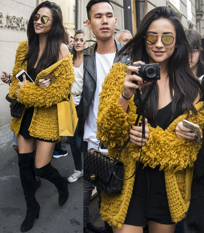 Shay Mitchell For Love and Lemons Cardigan2