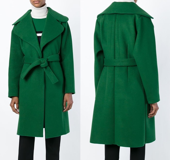 Cedric Charlier Belted Coat