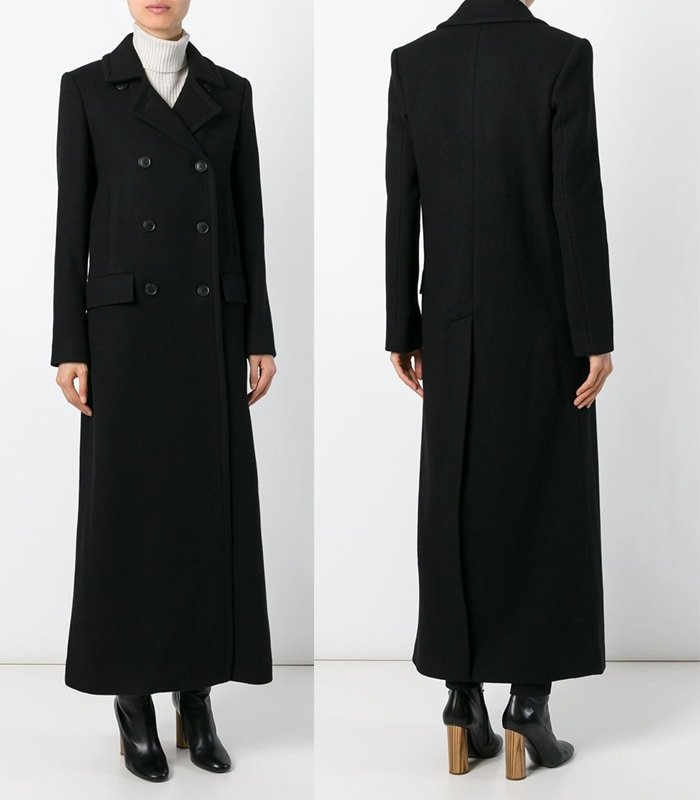 Theory Double Breasted Long Coat