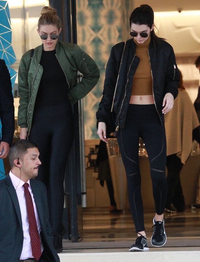 Kendall Jenner and best friend Gigi Hadid go last minute christmas shopping