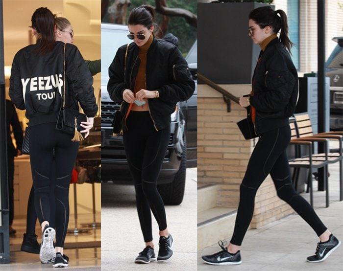 Gigi Hadid Kendall Jenner Bomber Jacket3