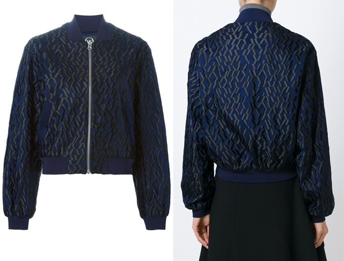 McQ Alexander McQueen Graphic Embroidery Bomber Jacket