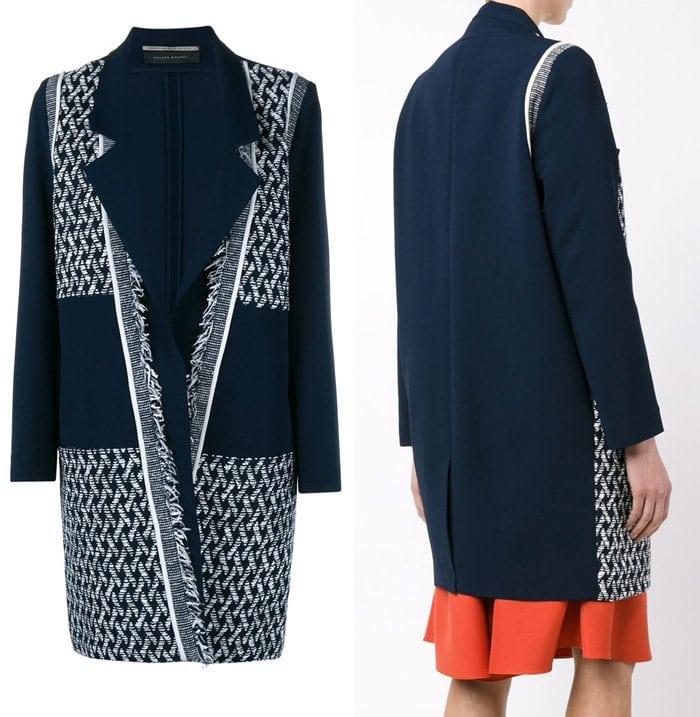 Roland Mouret Tweed Overcoat