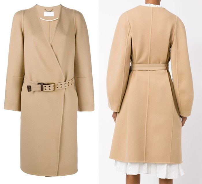 Chloe Collarless Wool Coat