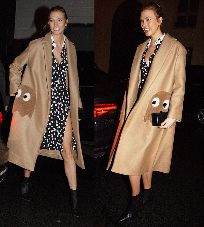 Karlie Kloss Anya Hindmarch Pacman Ghost Coat1