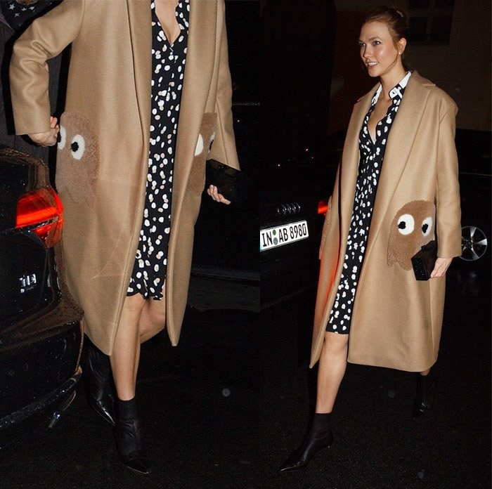 Karlie Kloss Anya Hindmarch Pacman Ghost Coat2