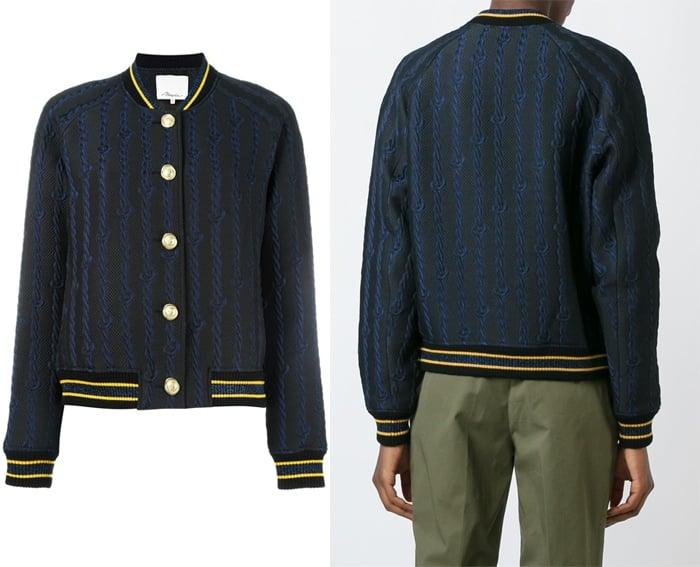 3 1 Phillip Lim Brocade Varsity Bomber Jacket