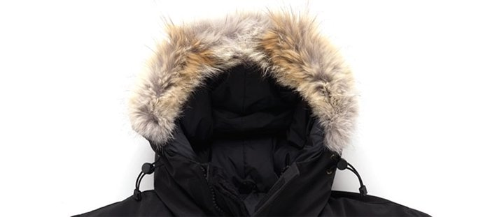Full and soft coyote ruff on an authentic parka