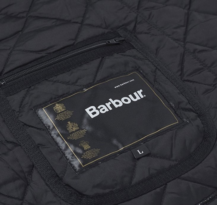 Make sure to check your Barbour jacket's inner label