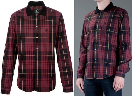 McQ by Alexander McQueen Tartan Checked Shirt in Red