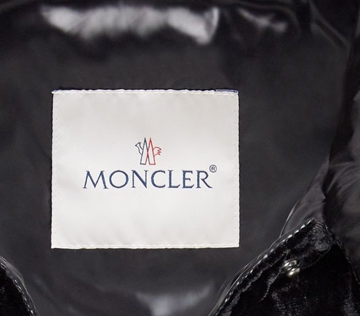 Authentic Moncler jackets do not have uneven stitches