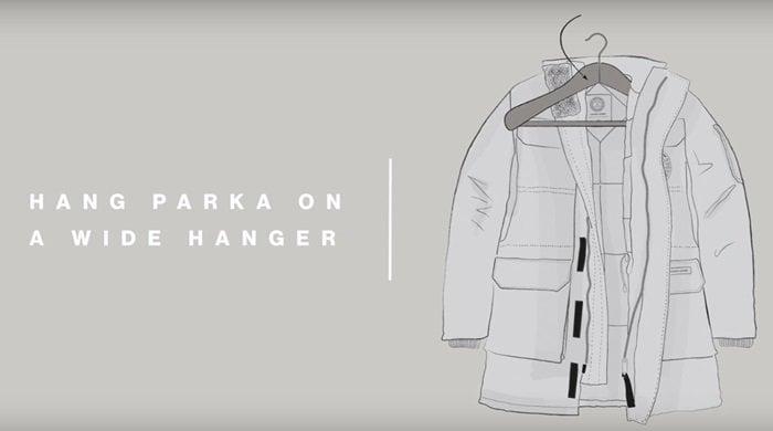 Hang Parka on Wide Hanger