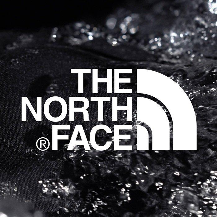 The North Face logo evokes Half Dome, a massive granitic monolith in Yosemite National Park