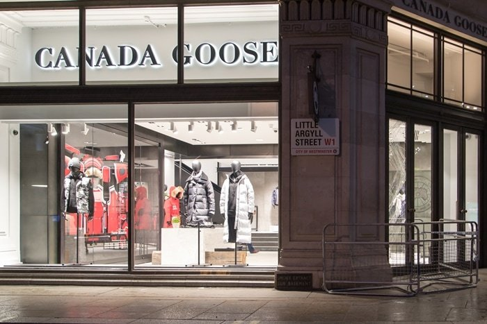 Canada Goose's London store on world-famous Regent Street, right in the heart of the city's West End