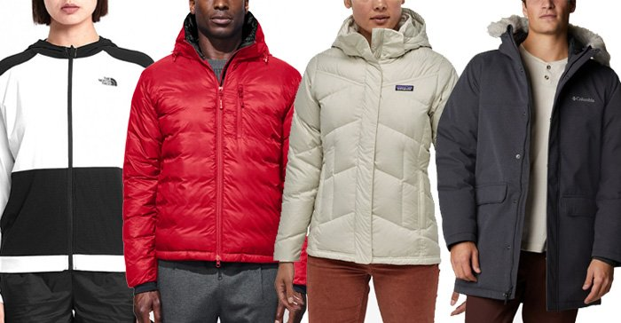 Authentic winter jackets from The North Face, Canada Goose, Patagonia, and Columbia