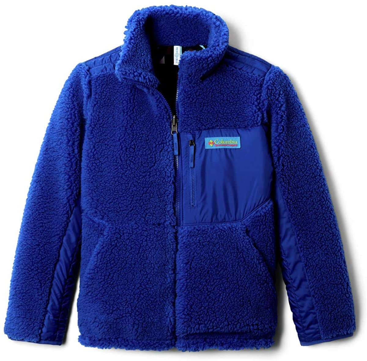 The Archer Ridge is a Sherpa fleece jacket on one side and a windbreaker on the other