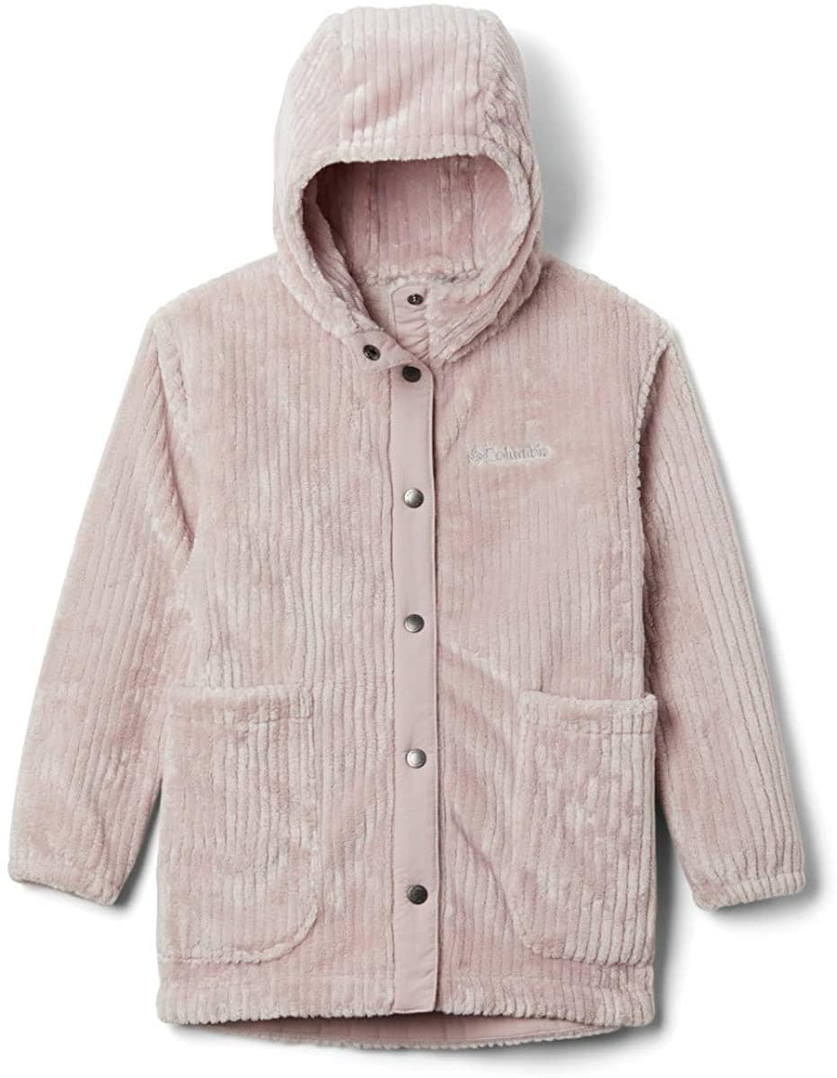 Columbia's Fire Side jacket comes in girly colors of pink, tan, and malbec