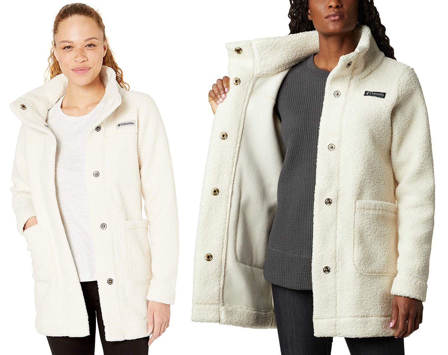 Bundle up in this warm and cozy but lightweight Panorama jacket, which is available in classic colors