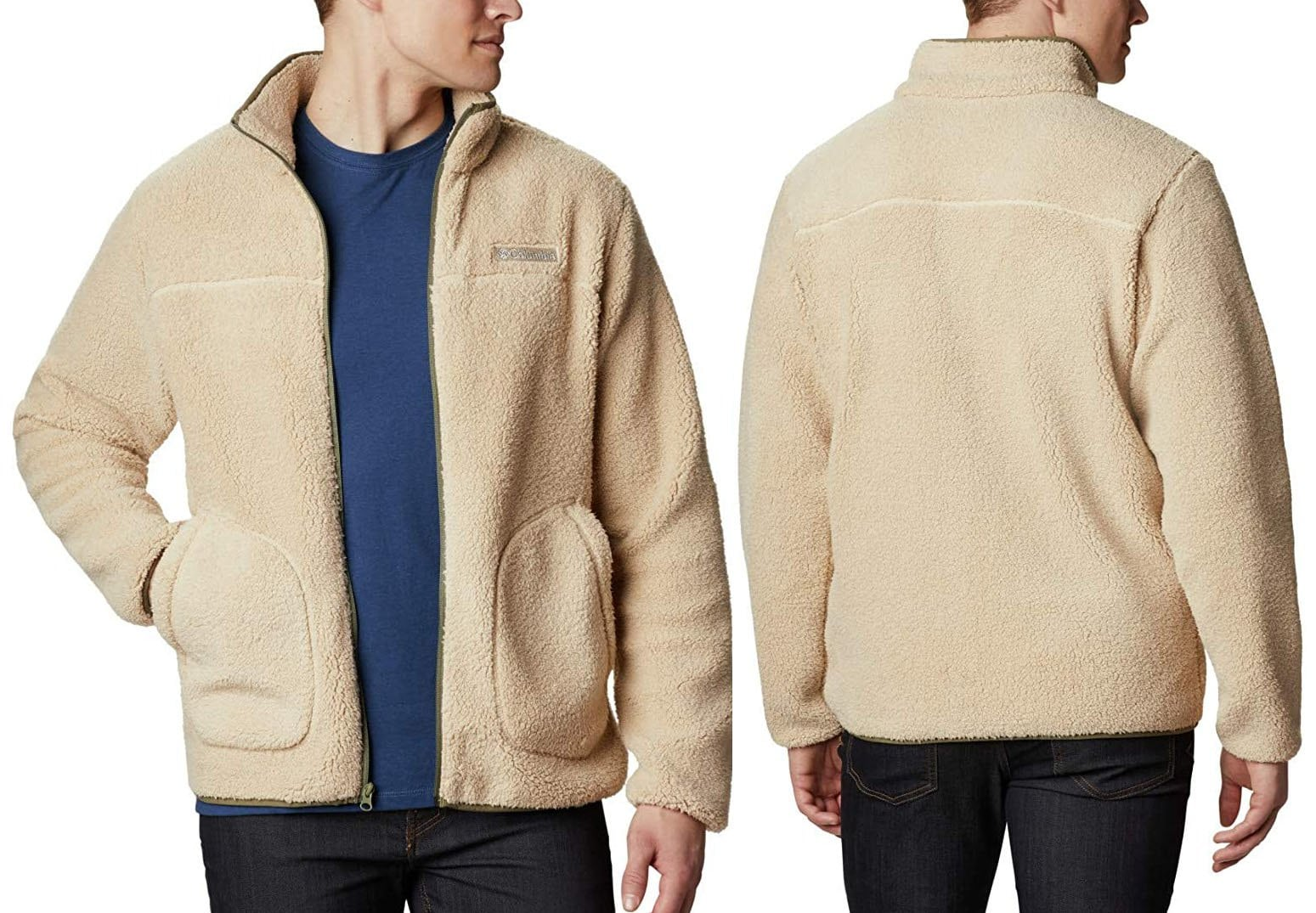 Columbia's Rugged Ridge II features lightweight Sherpa fleece, making it a perfect everyday go-to jacket