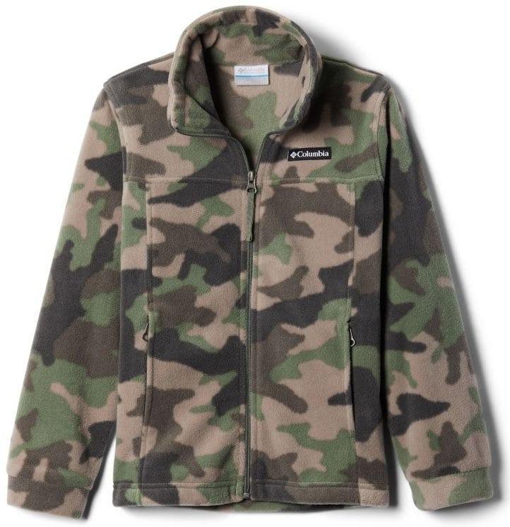 Give your little boys some stylish cold-weather look with Columbia's Zing III printed fleece jacket
