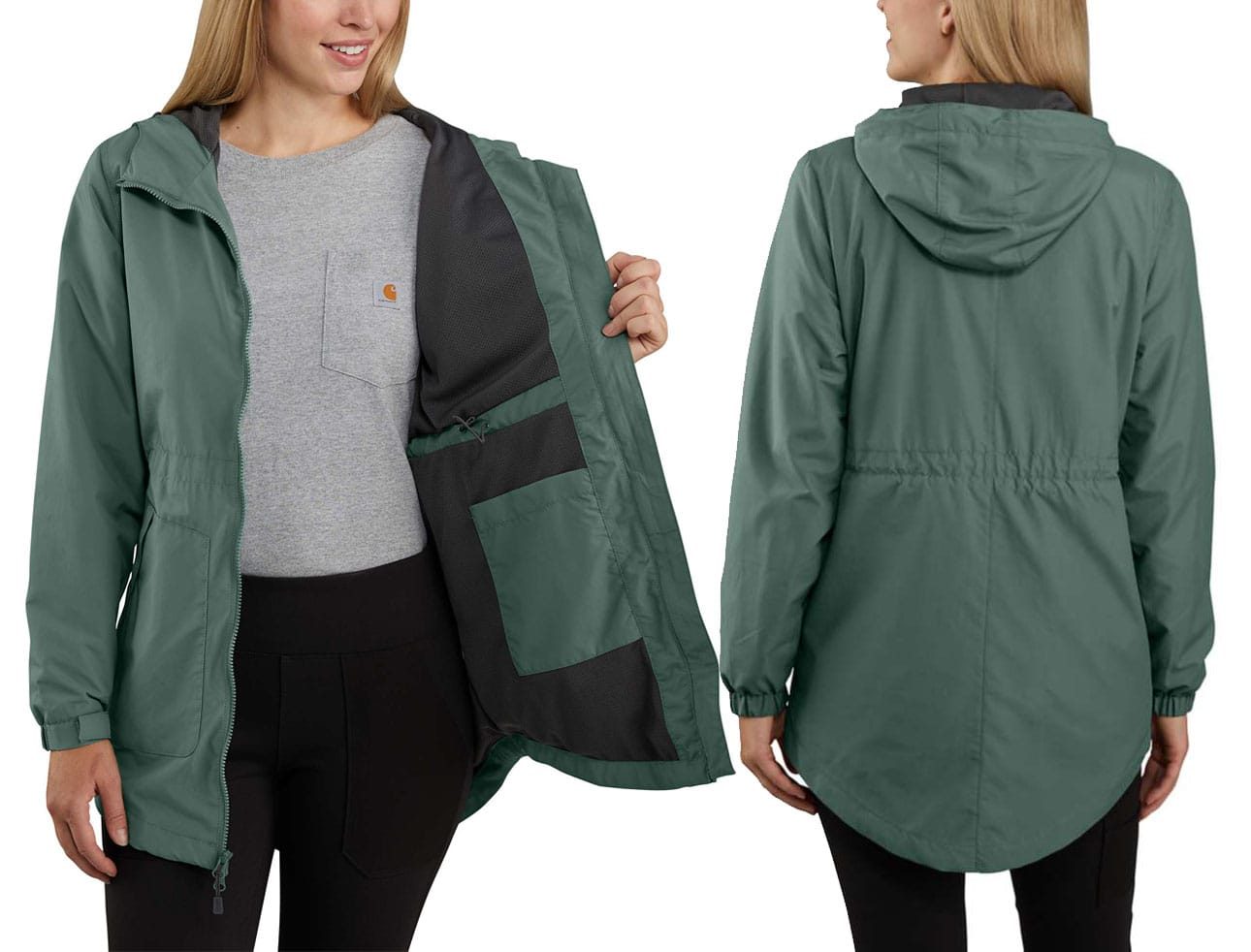 This lightweight rain jacket weighs in at only two ounces and can easily be stashed into your bag