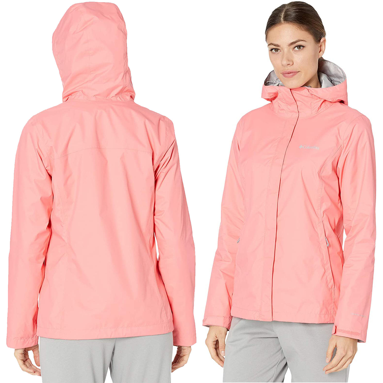 Available in multiple colors, the Arcadia II nylon jacket is waterproof and breathable