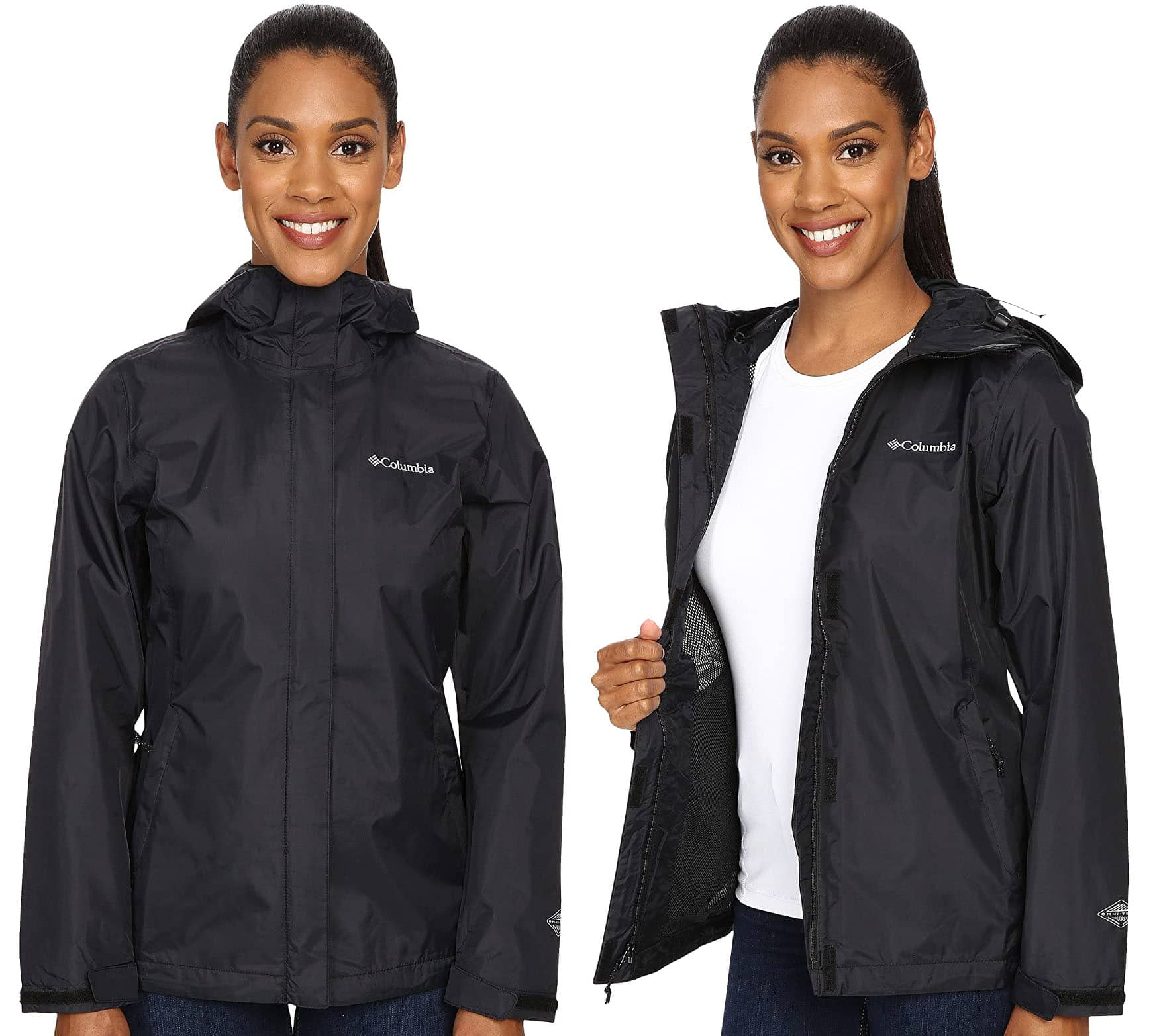 Columbia's ultralightweight Arcadia II rain jacket features a seam-sealed construction with soft mesh lining