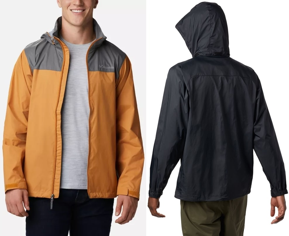 With a waterproof nylon shell and soft mesh lining, this rain jacket is light enough to fold into a pocket for easy storage and durable enough to withstand a downpour at a moment's notice