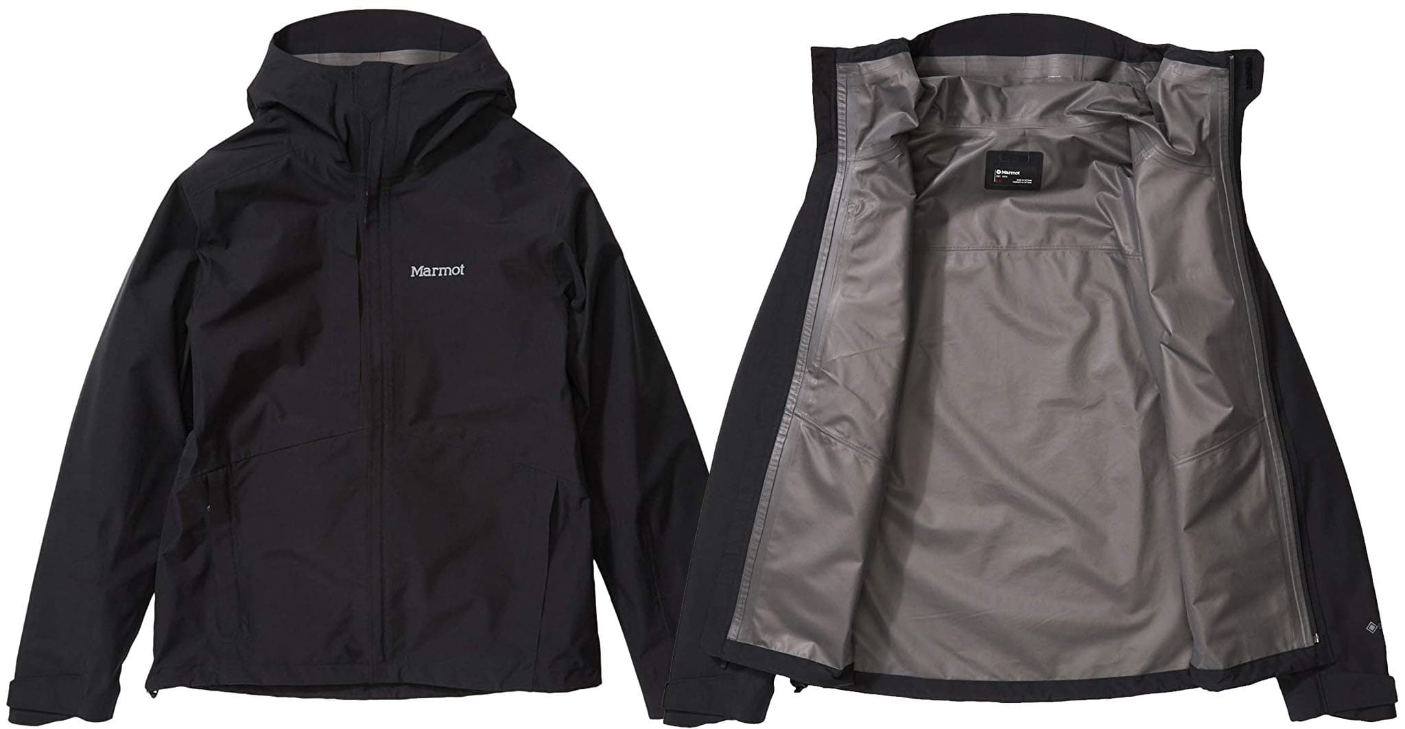 The Marmot Minimalist jacket is made from Gore-Tex with PacLite Technology, making it lightweight, waterproof, and windproof