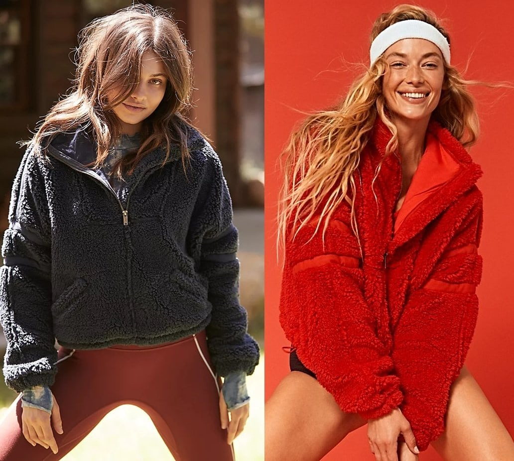 This half-zip pullover is featured in a plush and fluffy design with a high neckline and an oversized fit