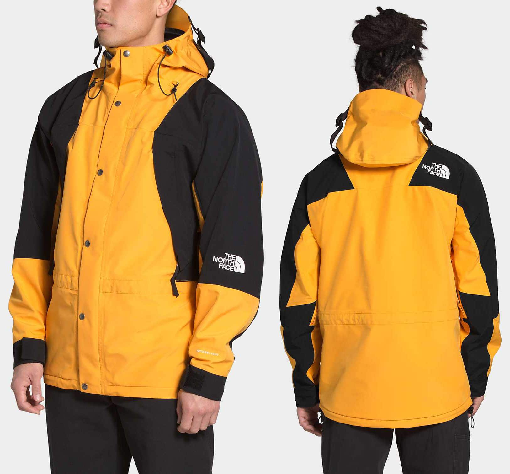 Considered a streetwear icon, the 1994 Retro Mountain Light rain jacket has been updated with FutureLight fabric technology, offering top-level breathability and waterproofing