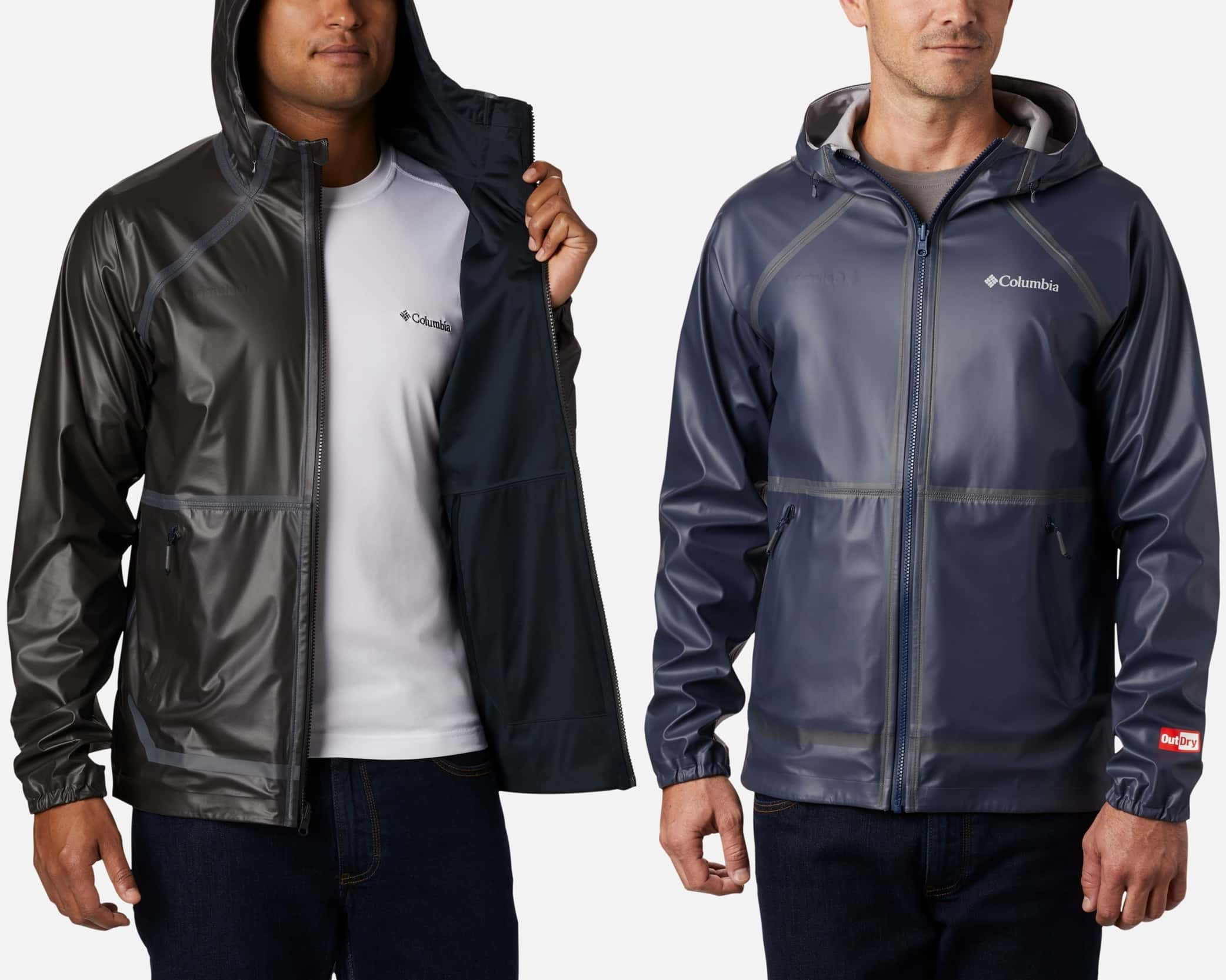 This absolutely waterproof, ultra-breathable rain jacket is also reversible, switching from a sleek shell to a rich, super softly textured interior