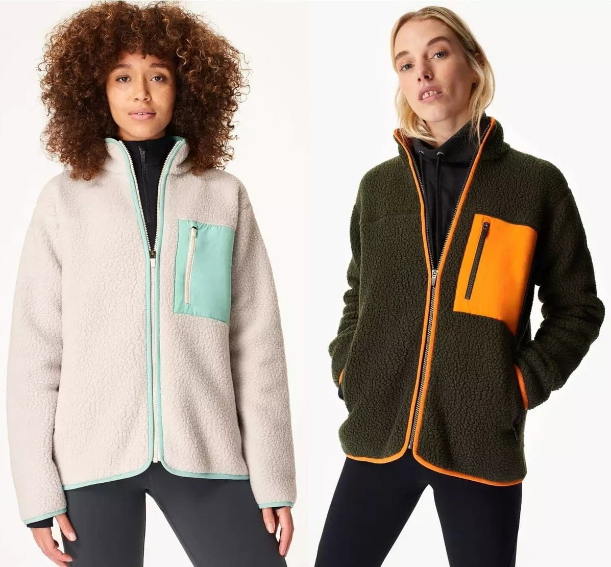 This sherpa jacket with insulating and breathable fleece is perfect for hiking and more