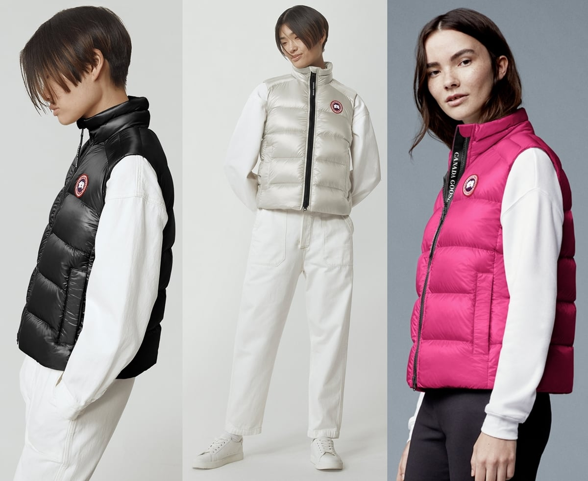 Canada Goose's lightweight Cypress down vest is made from 100% recycled nylon with a water repellent finish